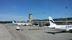 Waiting at Zurich Airport (Kloten, Switzerland)