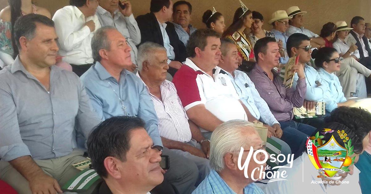 Alcalde de Chone participó del inicio de actividades por el mes de Manabí