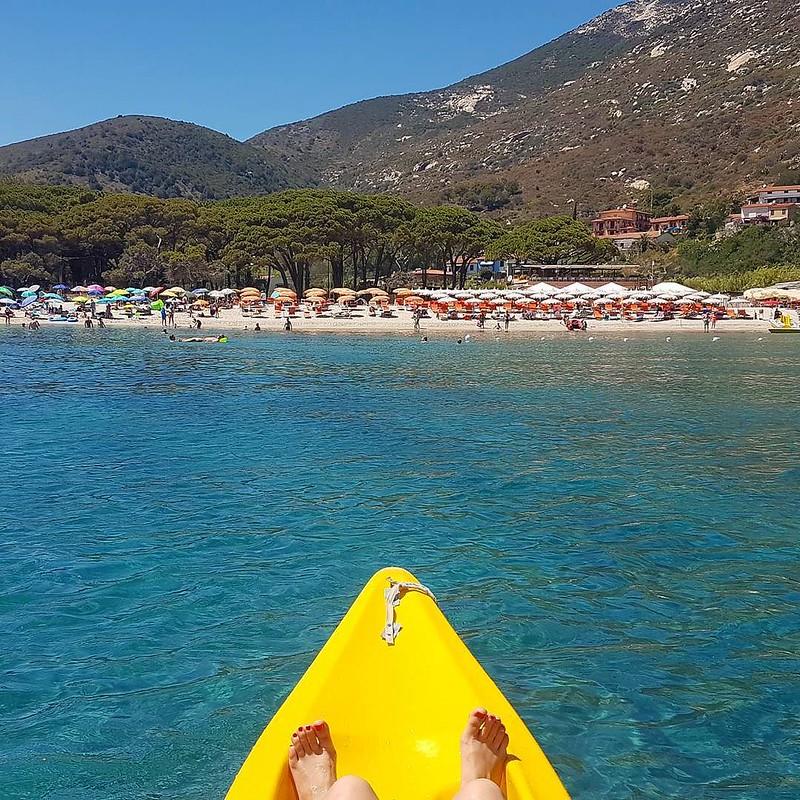 Buongiorno Dalla Spiaggia Di Fetovaia A Marinadicampo E