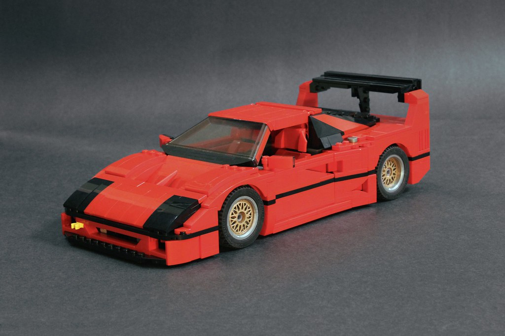 moc mod ferrari f40 lm lego scale modeling. Black Bedroom Furniture Sets. Home Design Ideas