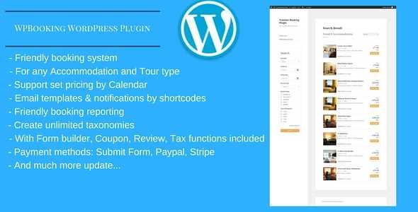 WPBooking WordPress Plugin free download