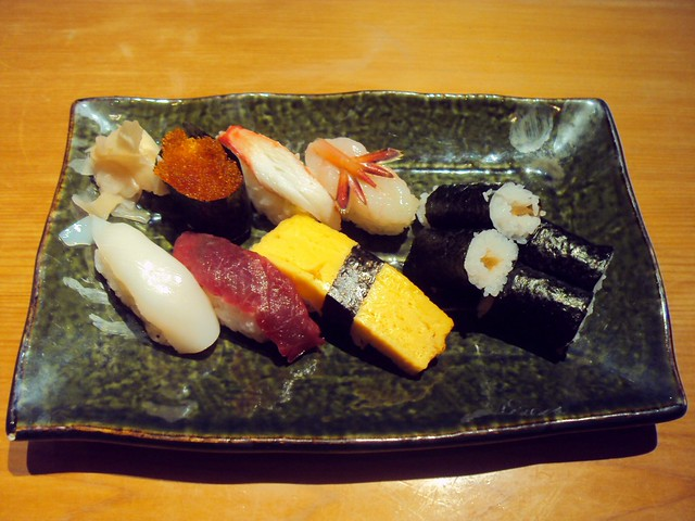 My last meal with Peter, sushi at the Chitose Airport by bryandkeith on flickr