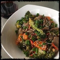 #AsianStyle #Beef & #Broccoli #homemade #CucinaDelloZio - over brown rice
