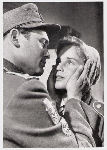 Maria Schell and Carl Möhner in Die letzte Brücke (1954)