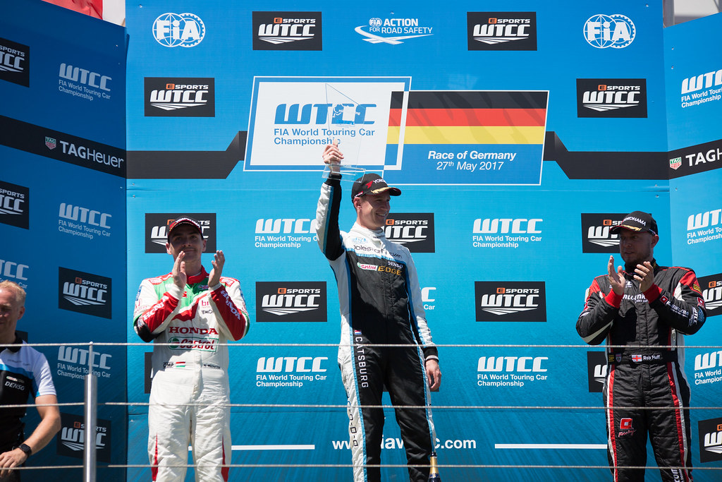 Podium MICHELISZ Norbert (hun), Honda Civic team Castrol Honda WTC, CATSBURG Nicky (ned), Volvo S60 Polestar team Polestar Cyan Racing, HUFF Rob (gbr), Citroen C-Elysee team ALL-INKL.COM Munnich Motorsport, ambiance portrait during the 2017 FIA WTCC World Touring Car Race of Nurburgring, Germany from May 26 to 28 - Photo Antonin Vincent / DPPI