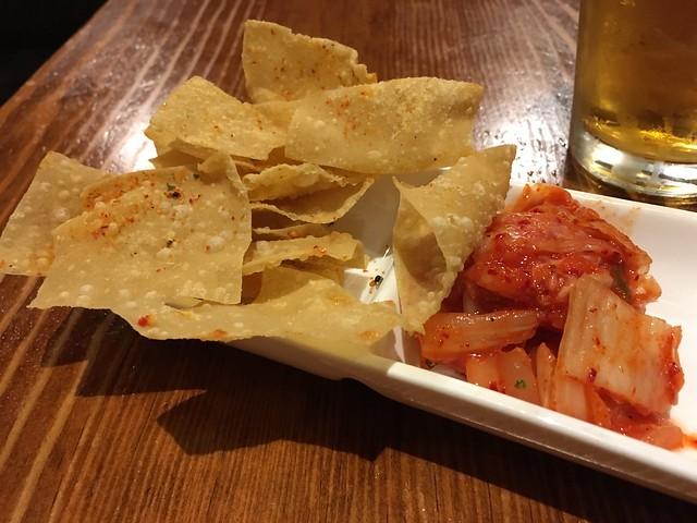 Kimchi and chips - Slurp Noodle Bar