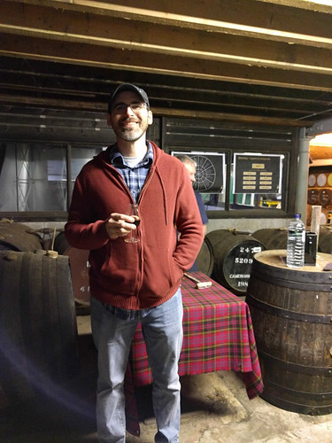 Eric posing with a 31 year old cask whisky