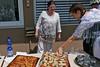 Neureuter Kirchweihkuchen für die Gäste gebacken von der Gattin des Feuerwehr-Kommandanten Harald Nagel