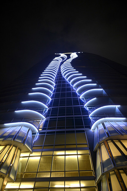 High Rise Apartment at Night