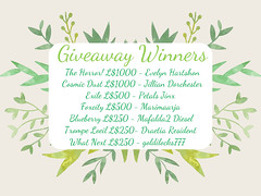 Anniversary Giveaway Winners! ♥