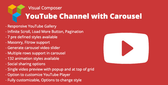 Visual Composer YouTube Channel with Carousel v1.1