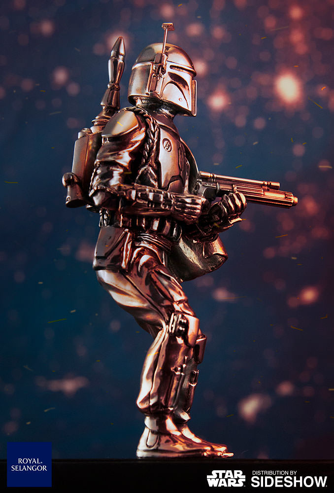 全銀河最強的賞金獵人!!Royal Selangor「波巴.費特」合金小雕像 Boba Fett Figurine