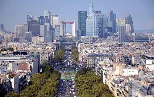 2016 FRANCE 法国 1261 Paris 巴黎 From Arch of Triumph 从凯旋门上俯瞰
