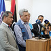 Tripoli. UNHCR High Commissioner Filippo Grandi at the Tariq al-Sikka detention facility in Tripoli on 21 May 2017 at the conclusion of a visit to examine conditions for holding refugees and migrants.