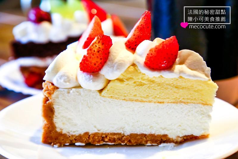 台北甜點,台北美食,東區下午茶,東區美食,法國的秘密甜點,法國的秘密甜點 大安2店,藍紋乳酪鮮奶蛋糕 @陳小可的吃喝玩樂