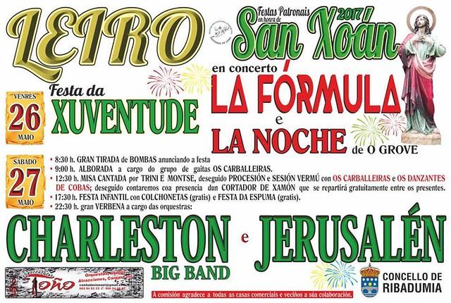 Ribadumia 2017 - Festas patronais e da Xuventude en Leiro - cartel