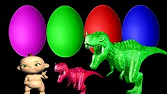 Cartoon Bad Baby Dinosaurs For Children | Dinosaur Rhymes For Children | Learn Color Eggs For Kids