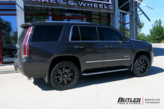 GMC Yukon with 22in Fuel Maverick Wheels and Nitto Terra Grappler G2 Tires with Rough Country Level Kit