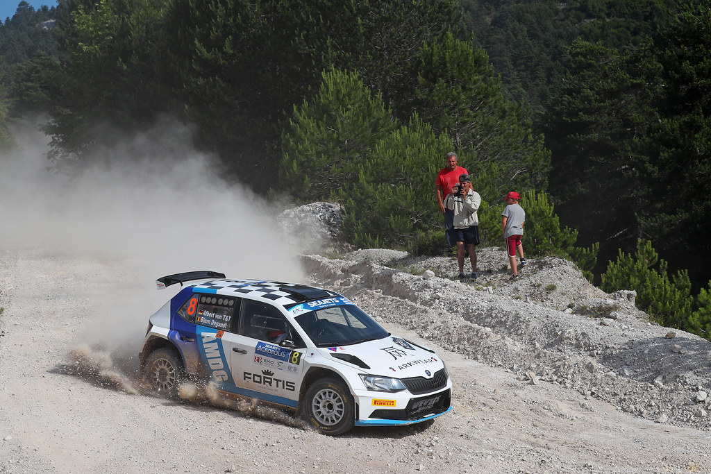 08 VON THURN UND TAXIS Albert (deu) and DEGANDT Bjorn (bel) action during the European Rally Championship 2017 - Acropolis Rally Of Grece - From June 2 to 4 - Photo Gregory Lenormand / DPPI