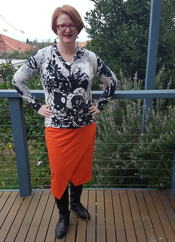 Style Arc Halle skirt in ponte from Darn Cheap Fabrics
