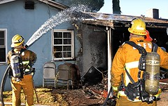 LAFD Responds to Fire in Northridge Home