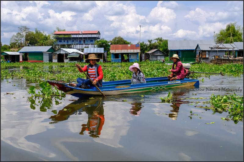 Boating.  Tonle Sap