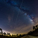 Milky Way and the International Space Station by Michael Seeley