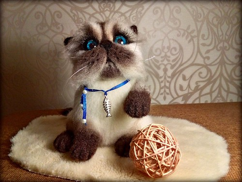 Cat Aisa needle felting