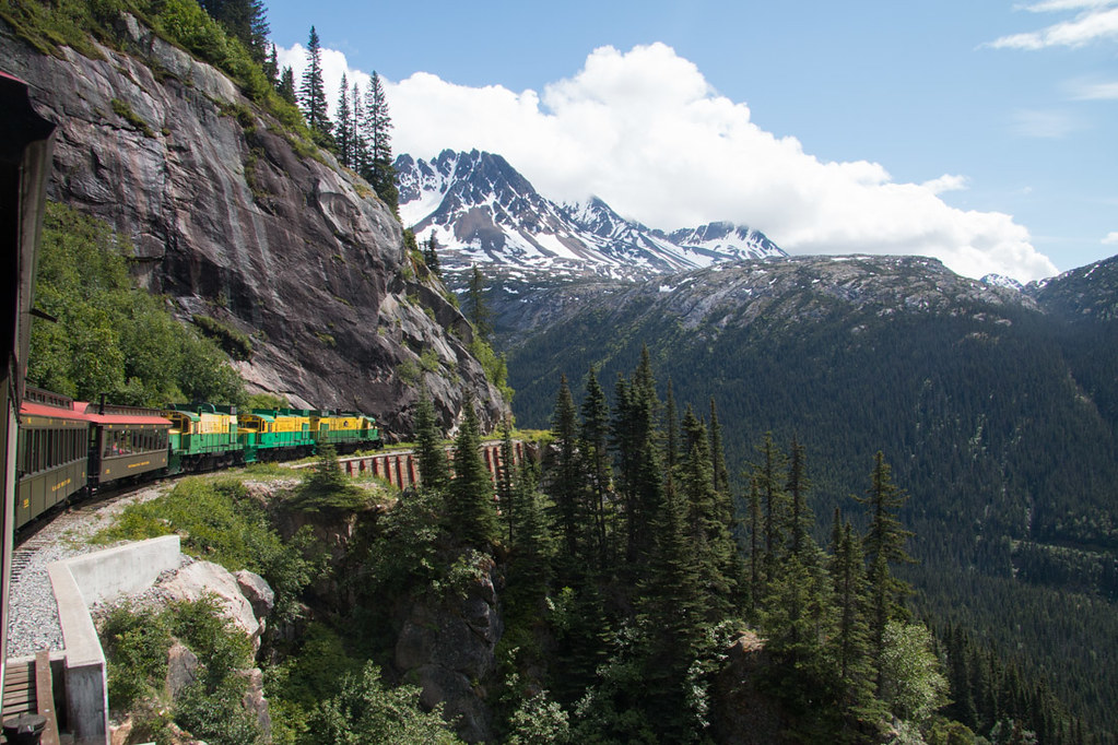 Views from White Pass train