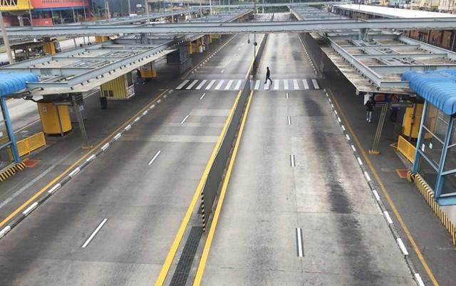 Terminal Parque Dom Pedro, em São Paulo, na greve de 28 de abril. Centrais prometem paralisação ainda maior - Créditos: Paulo Pinto/FotosPublicas