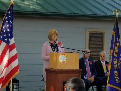 Rep. Luanne Van Werven speaks at Memorial Day event.