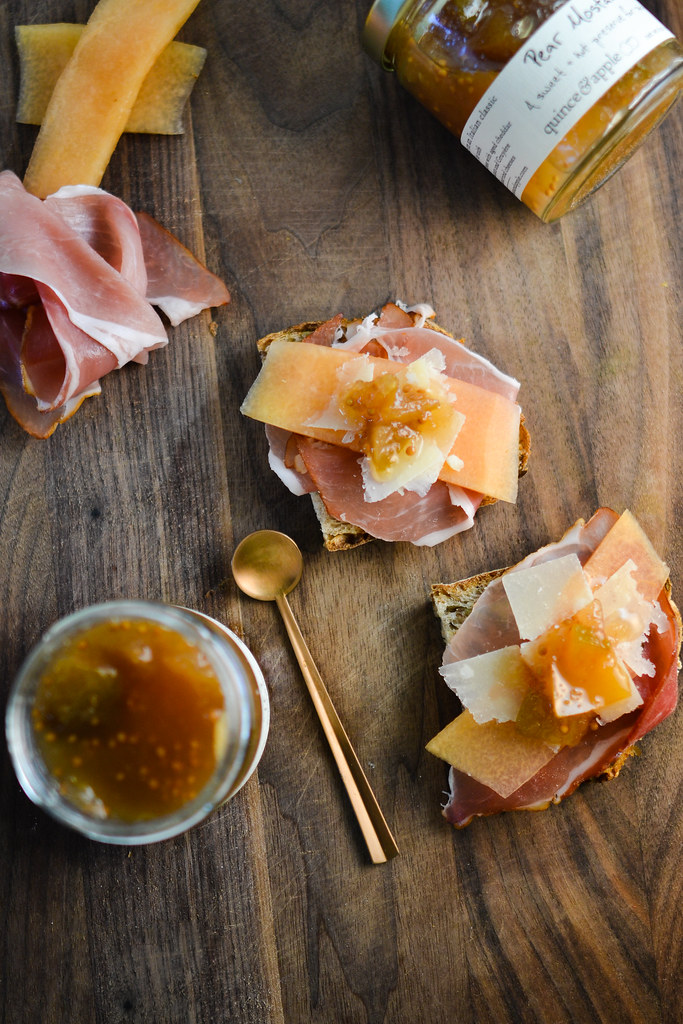 Prosciutto Toasts with Pear Mostarda | Things I Made Today