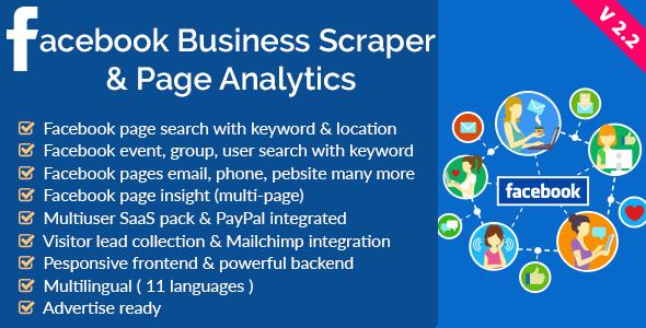 Facebook Business Scraper & Page Analytics v2.2