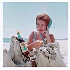 Woman on Beach Photoshoot, 1960s