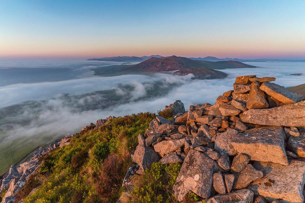'Sea-Mists At Sunset' - Garn For, Snowdonia