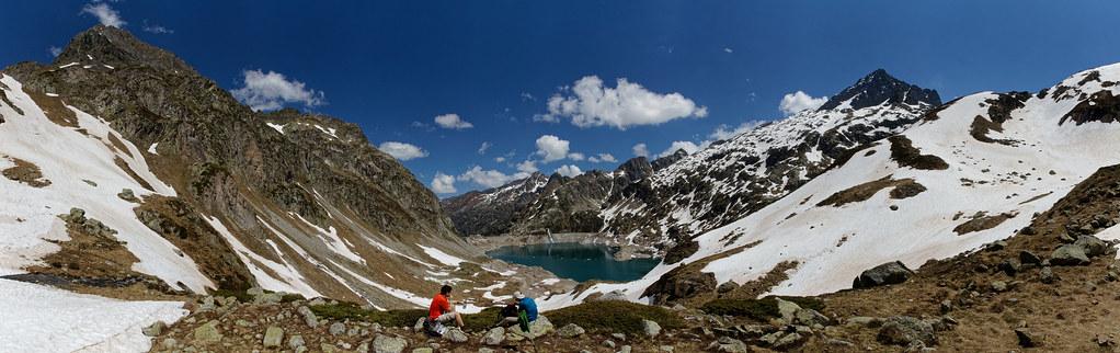 Panorama Lac dArtouste depuis le col dArrious
