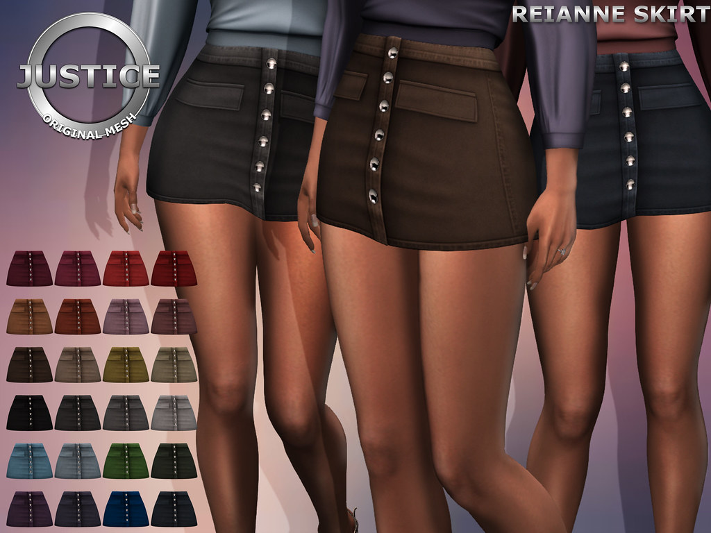 JUSTICE REIANNE SKIRT FATPACK PIC - SecondLifeHub.com