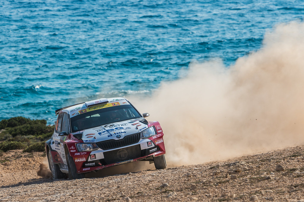 06 TLUSTAK Antonin (cze) and VYBIRAL Ivo (cze) BOTKA-TLUSTAK RACING SKODA FABIA R5 action during the 2017 European Rally Championship ERC Cyprus Rally,  from june 16 to 18  at Nicosie, Cyprus - Photo Thomas Fenetre / DPPI