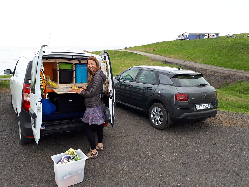 Hiring a campervan in Iceland – Go Campers Iceland review - Campervan lunch stop