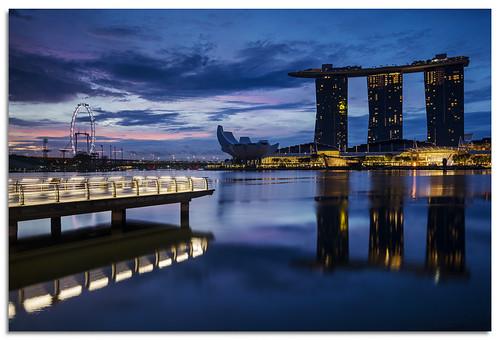 marinabay singapore sunrise dawn 2017 d600 ngc nikonfxshowcase nikkor1635mmf4 water reflection reservoir