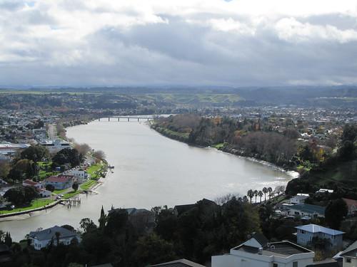 outdoor urban panorama river whanganui tree bridge cloud duriehill newzealand