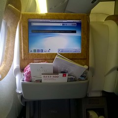 Sometimes, work lets me fly #businessclass #emirates