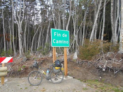 南米大陸道路最南端