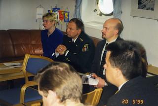 Latvian sisäasiainministeri VL Merikarhun päivähuoneessa