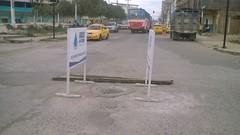 Colocaron tapa de alcantarilla en calles Alejo Lazcano y 7 de Agosto