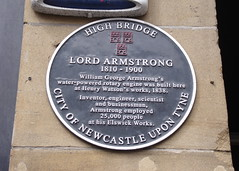 Photo of William Armstrong and Henry Watson black plaque