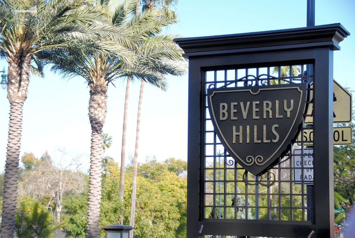 Beverly Hills -kyltti, Los Angeles, Kalifornia, USA