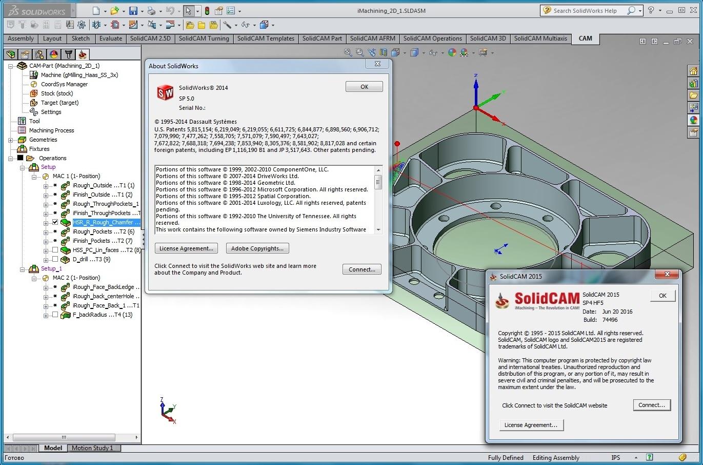 SolidCAM 2015 SP4 HF5 Multilang for SolidWorks 2012-2017 full