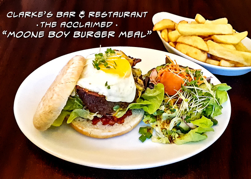 Clarke's Moone Boy Burger Meal