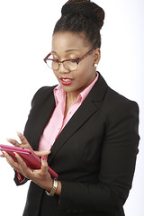 Corporate Photography - Businesswoman Reading